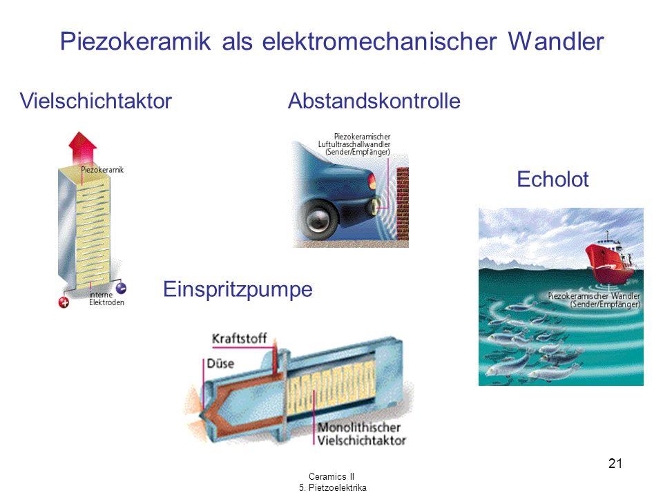 Piezokeramik als elektromechanischer Wandler