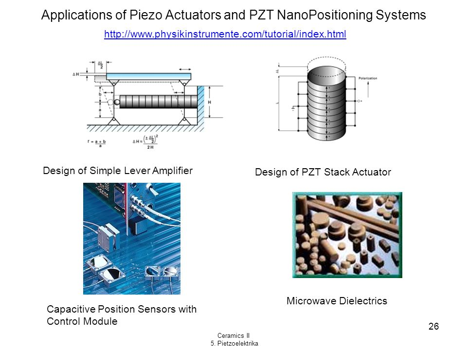 Applications of Piezo Actuators and PZT NanoPositioning Systems