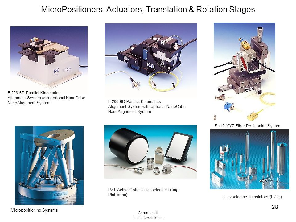 MicroPositioners: Actuators, Translation & Rotation Stages
