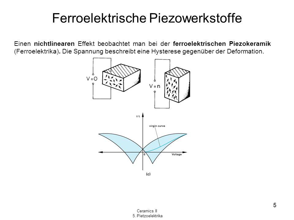 Ferroelektrische Piezowerkstoffe