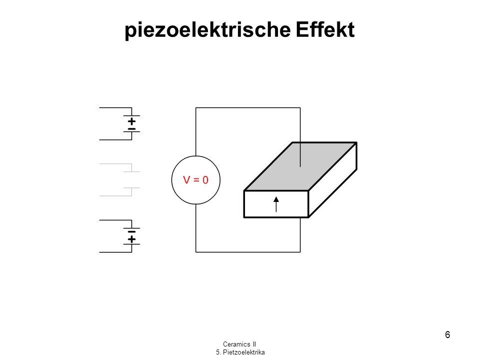 piezoelektrische Effekt