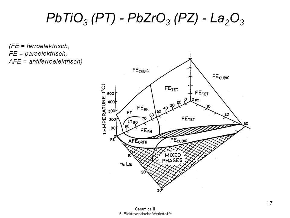 PbTiO3 (PT) - PbZrO3 (PZ) - La2O3