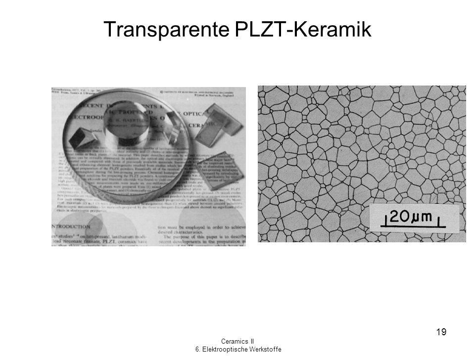 Transparente PLZT-Keramik