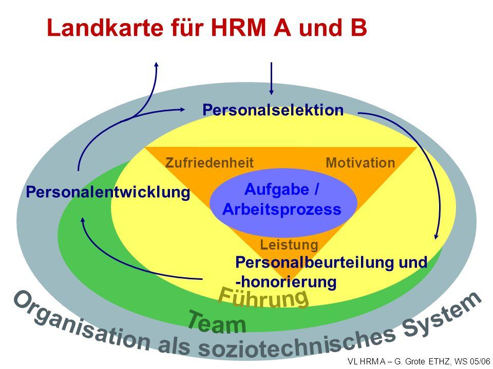 Landkarte für HRM A und B