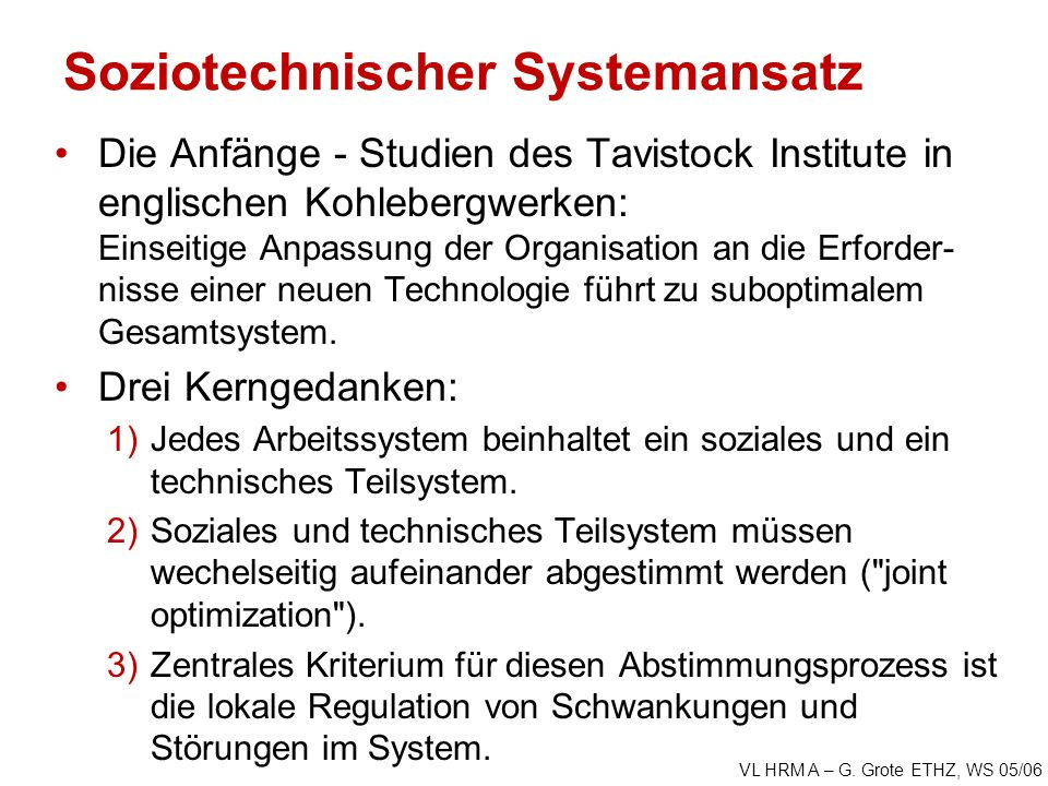 Soziotechnischer Systemansatz
