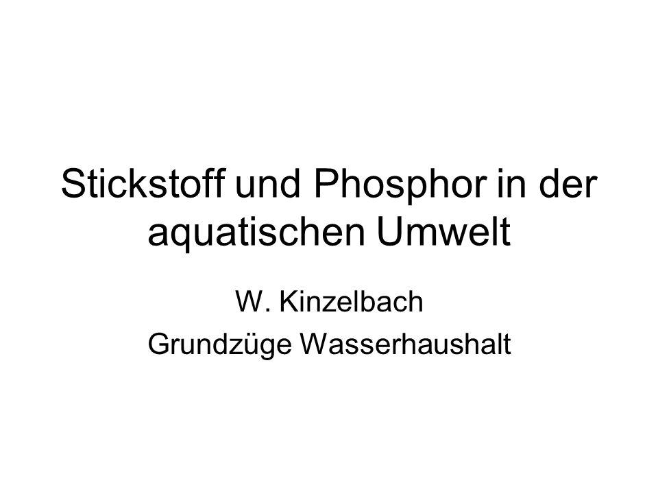 Stickstoff und Phosphor in der aquatischen Umwelt
