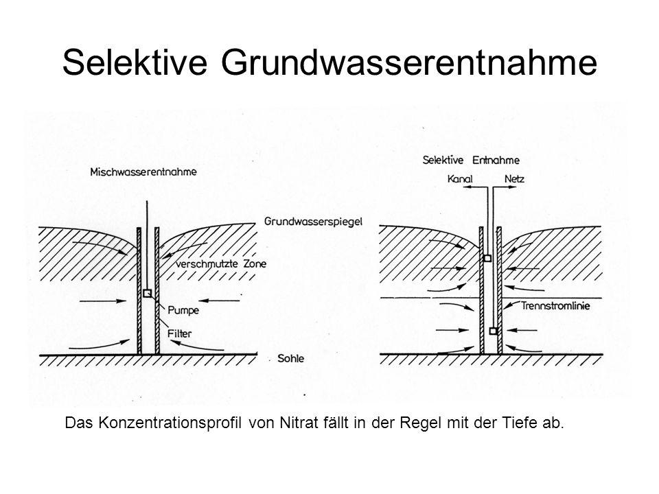 Selektive Grundwasserentnahme