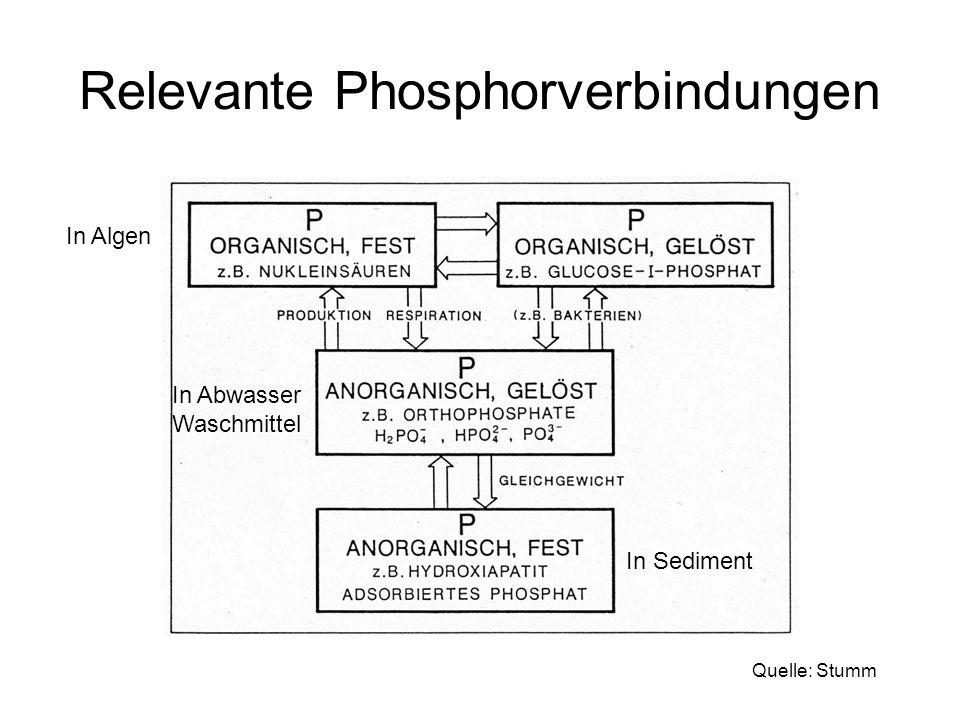 Relevante Phosphorverbindungen