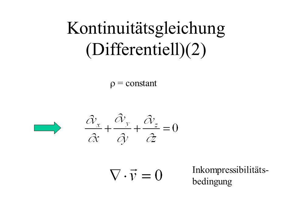 Kontinuitätsgleichung (Differentiell)(2)