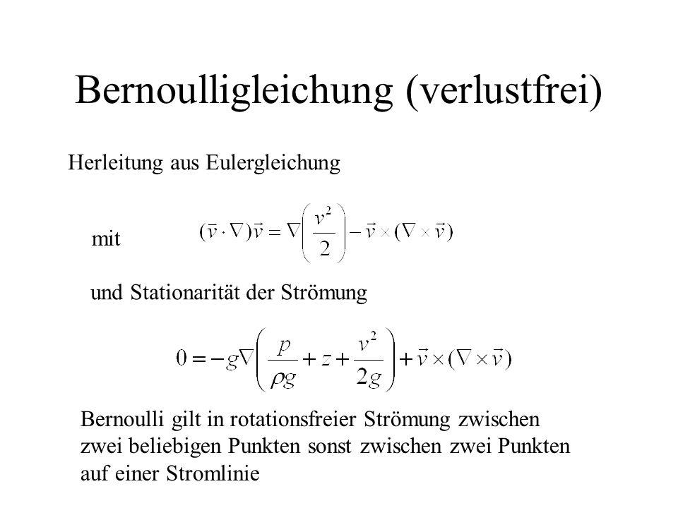 Bernoulligleichung (verlustfrei)