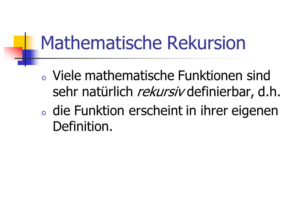 Mathematische Rekursion