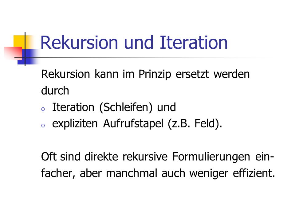 Rekursion und Iteration