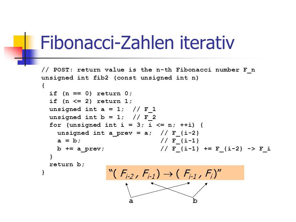 Fibonacci-Zahlen iterativ