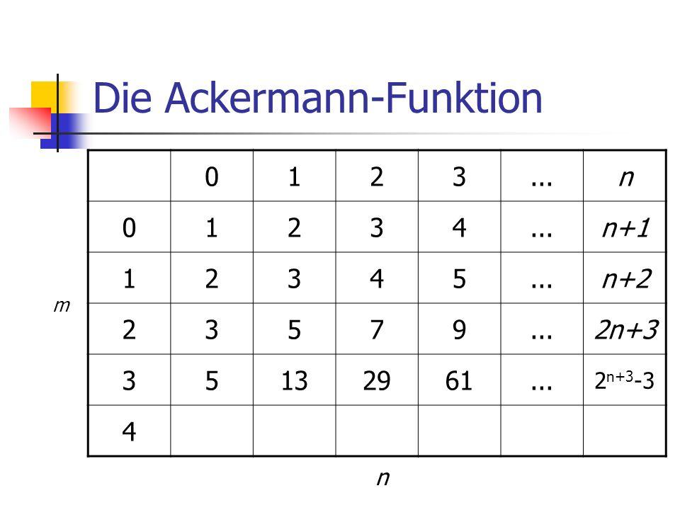 Die Ackermann-Funktion