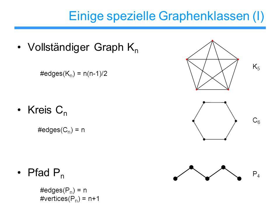 Einige spezielle Graphenklassen (I)