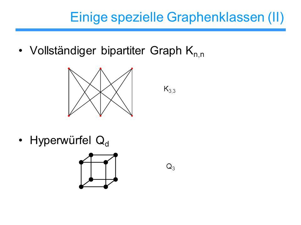 Einige spezielle Graphenklassen (II)