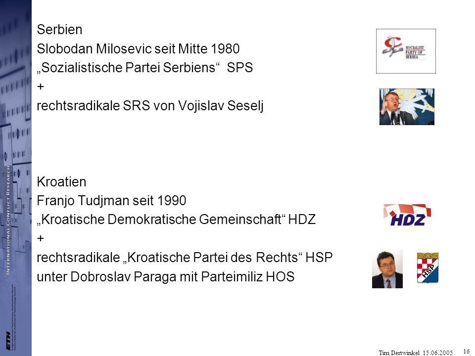 """Serbien Slobodan Milosevic seit Mitte 1980. """"Sozialistische Partei Serbiens SPS. + rechtsradikale SRS von Vojislav Seselj."""