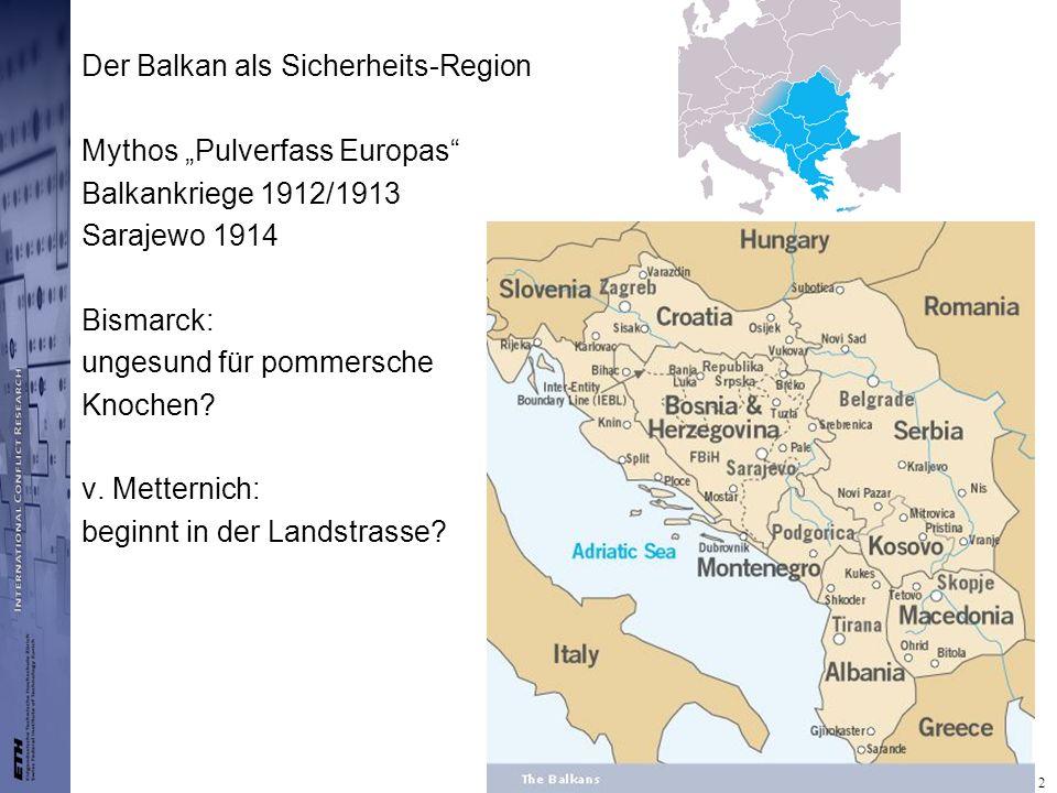 Der Balkan als Sicherheits-Region