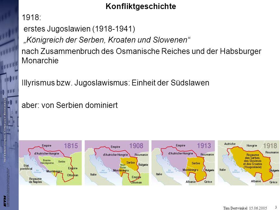 """Konfliktgeschichte 1918: erstes Jugoslawien (1918-1941) """"Königreich der Serben, Kroaten und Slowenen"""