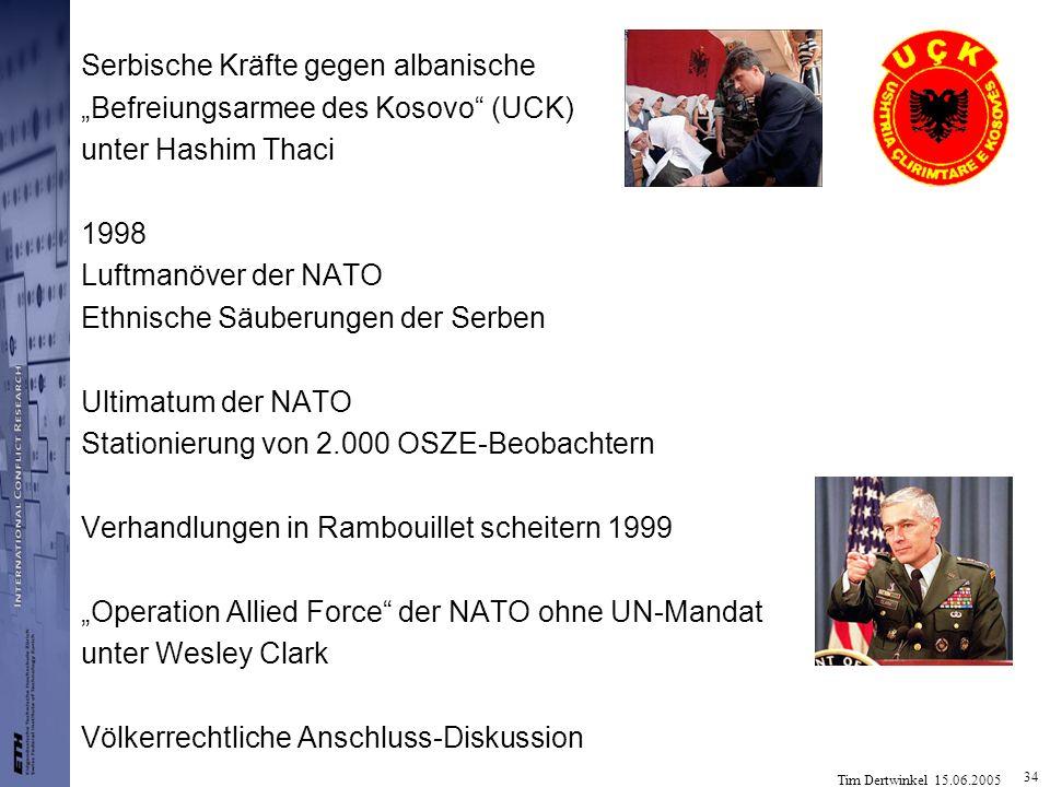 Serbische Kräfte gegen albanische