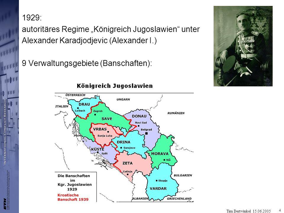 """1929: autoritäres Regime """"Königreich Jugoslawien unter."""