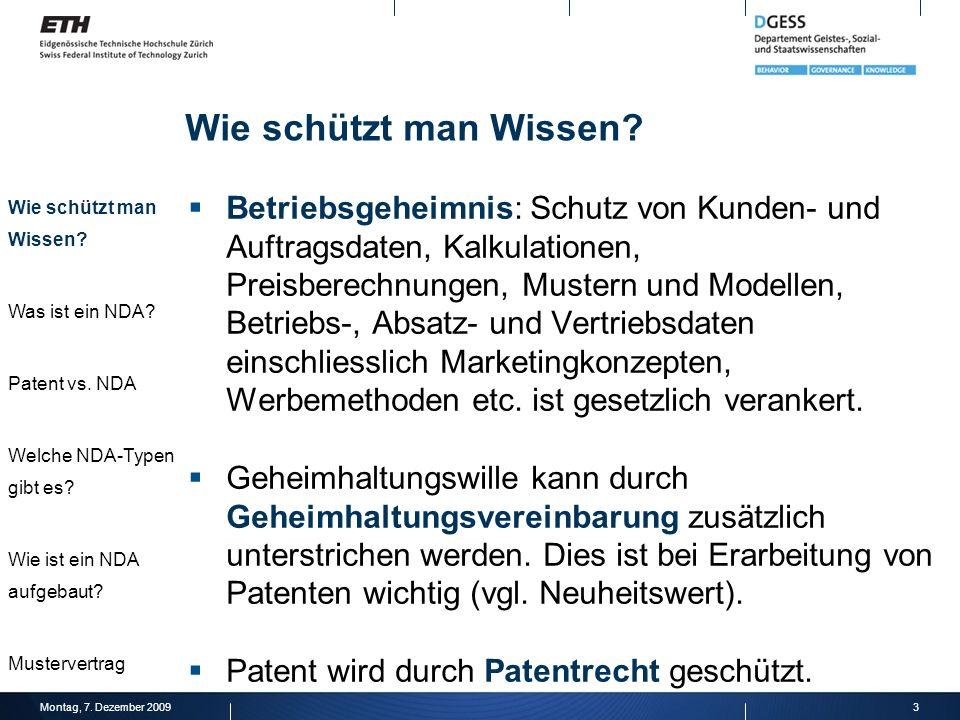 Wie schützt man Wissen Wie schützt man Wissen Was ist ein NDA Patent vs. NDA. Welche NDA-Typen gibt es