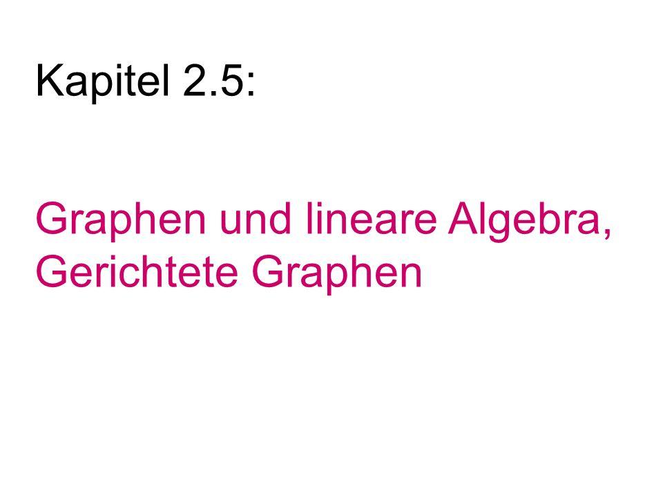 Kapitel 2.5: Graphen und lineare Algebra, Gerichtete Graphen