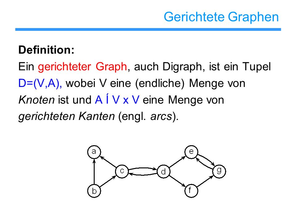Gerichtete Graphen Definition: