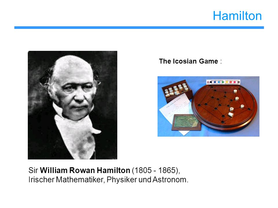 Hamilton Sir William Rowan Hamilton (1805 - 1865),