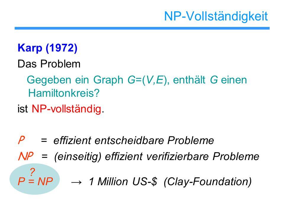 NP-Vollständigkeit Karp (1972) Das Problem