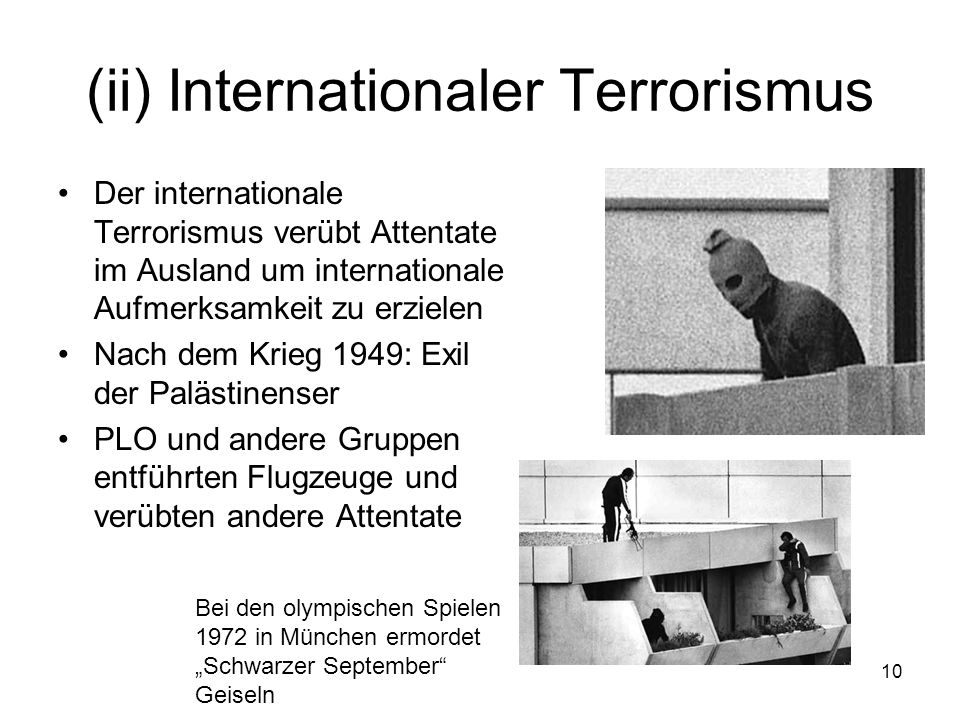 (ii) Internationaler Terrorismus