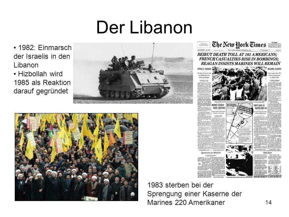 Der Libanon 1982: Einmarsch der Israelis in den Libanon