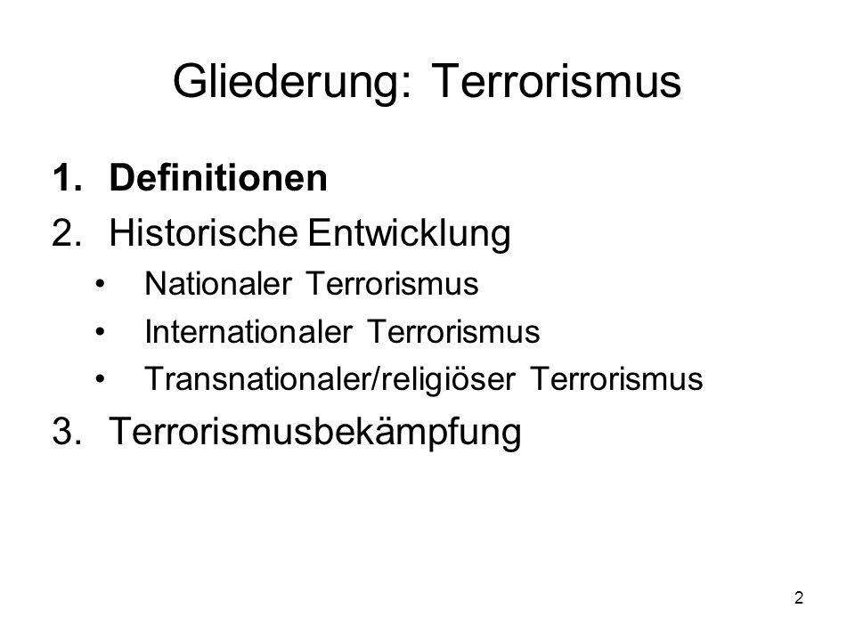 Gliederung: Terrorismus