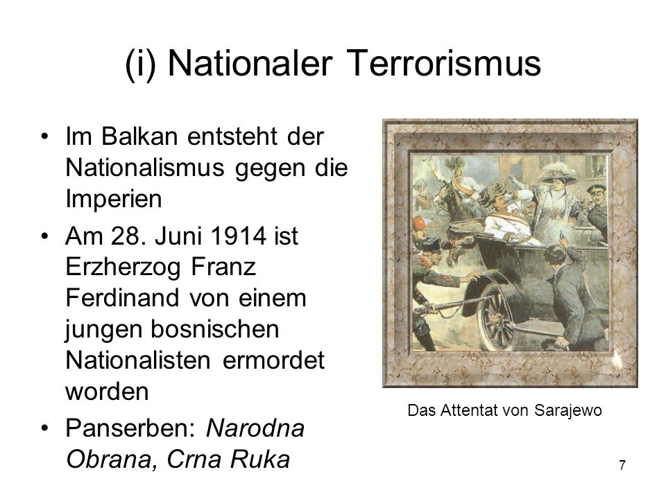 (i) Nationaler Terrorismus