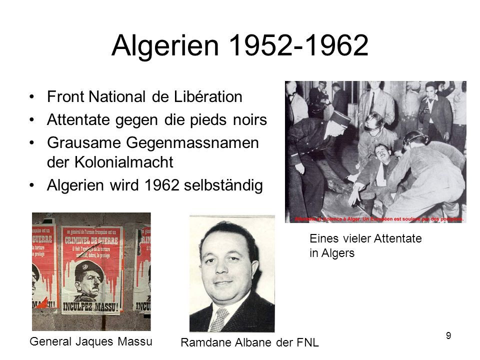 Algerien 1952-1962 Front National de Libération