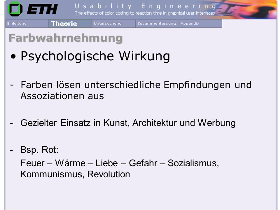 Psychologische Wirkung