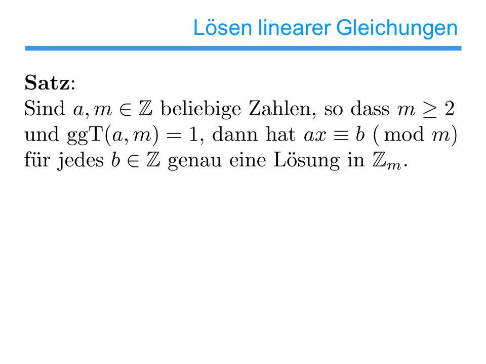 Lösen linearer Gleichungen