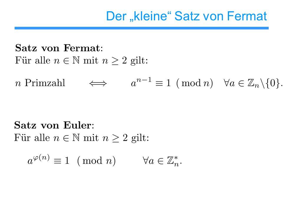 """Der """"kleine Satz von Fermat"""
