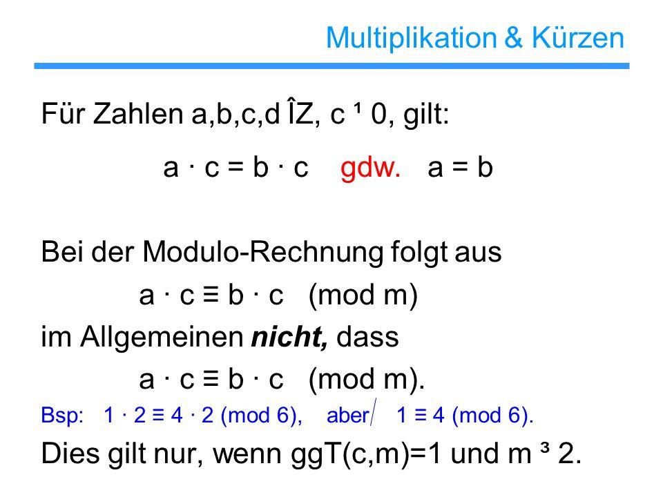 Multiplikation & Kürzen