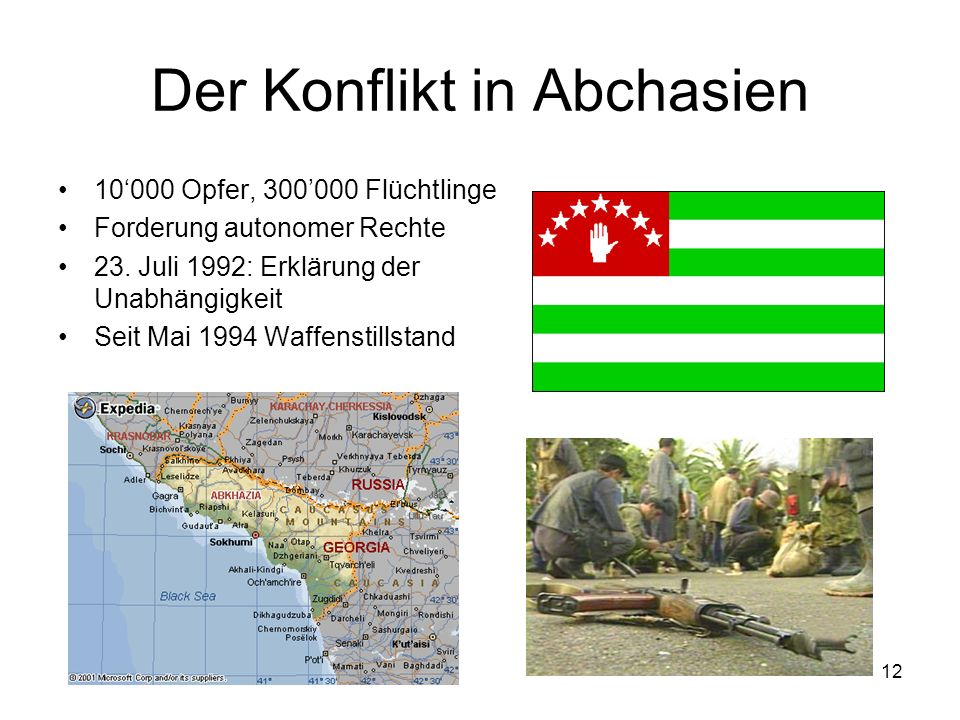 Der Konflikt in Abchasien
