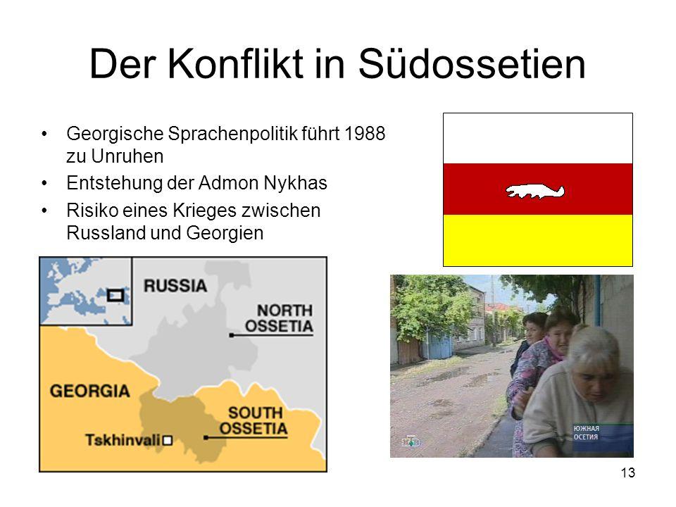 Der Konflikt in Südossetien