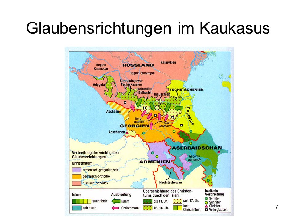 Glaubensrichtungen im Kaukasus
