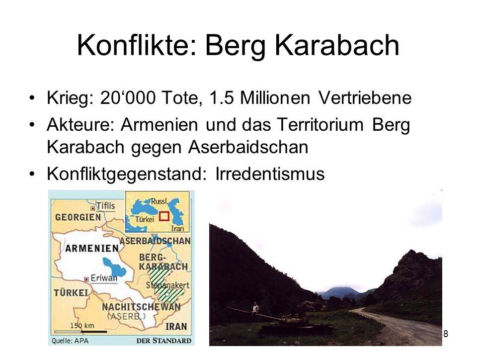 Konflikte: Berg Karabach