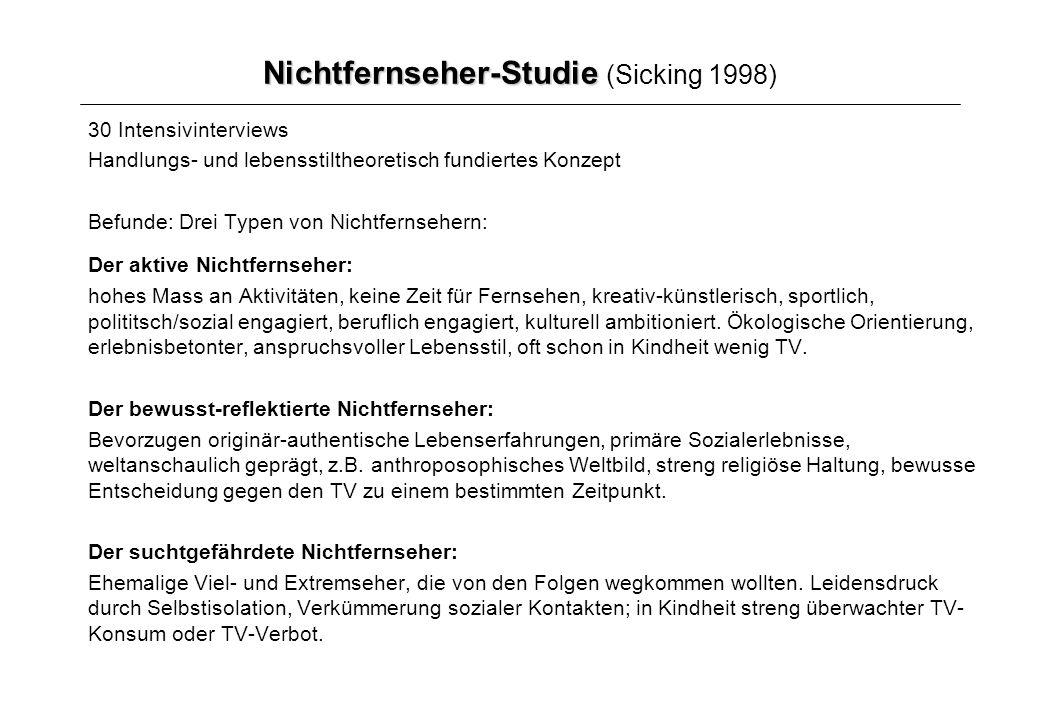 Nichtfernseher-Studie (Sicking 1998)