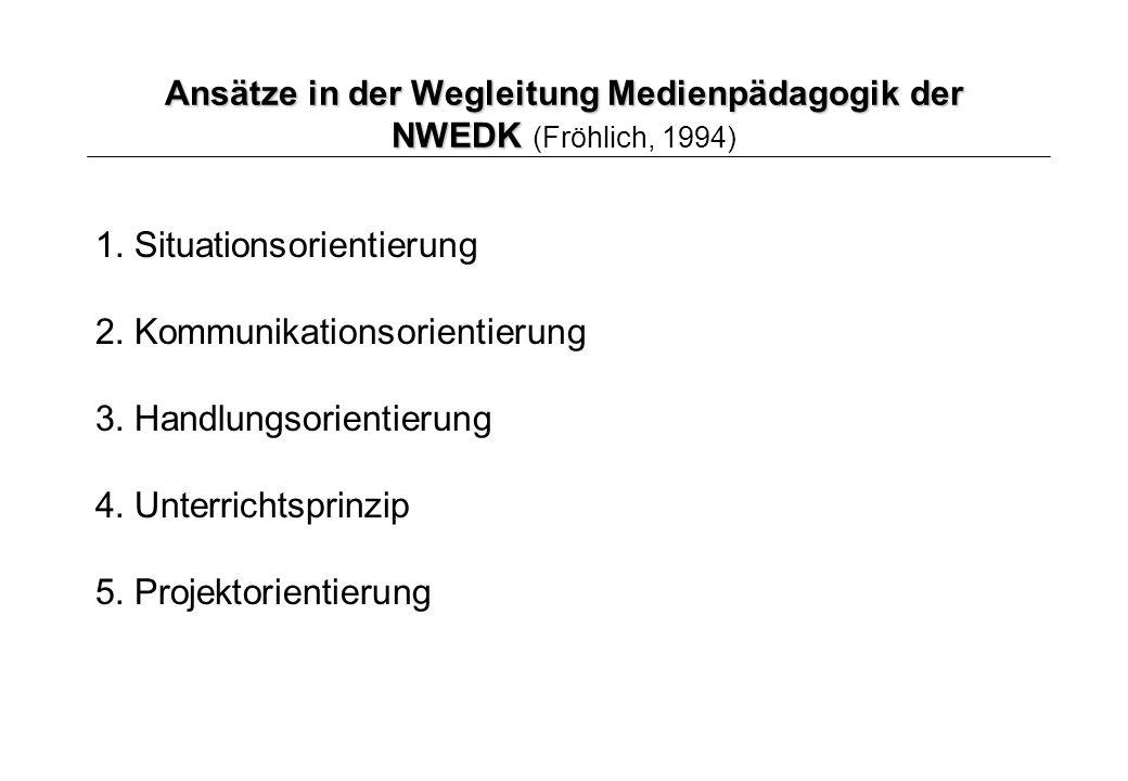Ansätze in der Wegleitung Medienpädagogik der NWEDK (Fröhlich, 1994)