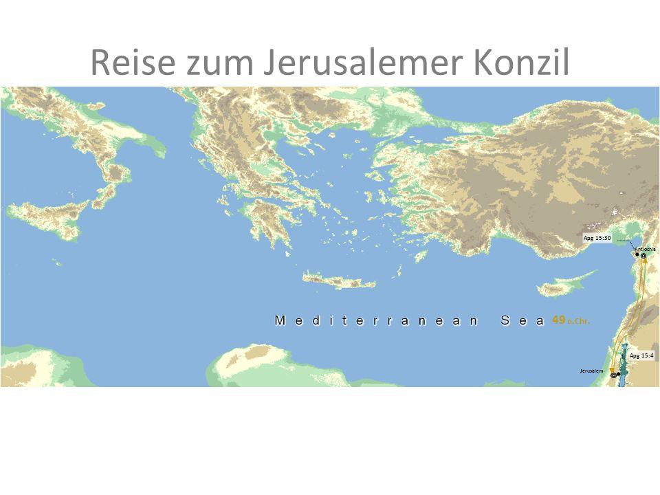 Reise zum Jerusalemer Konzil