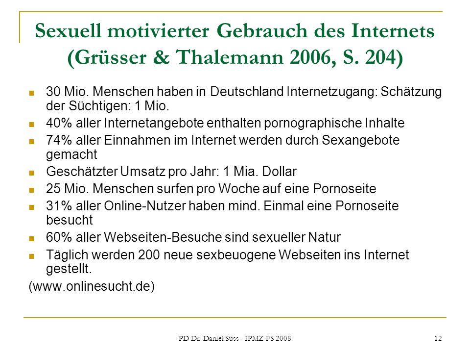 PD Dr. Daniel Süss - IPMZ FS 2008