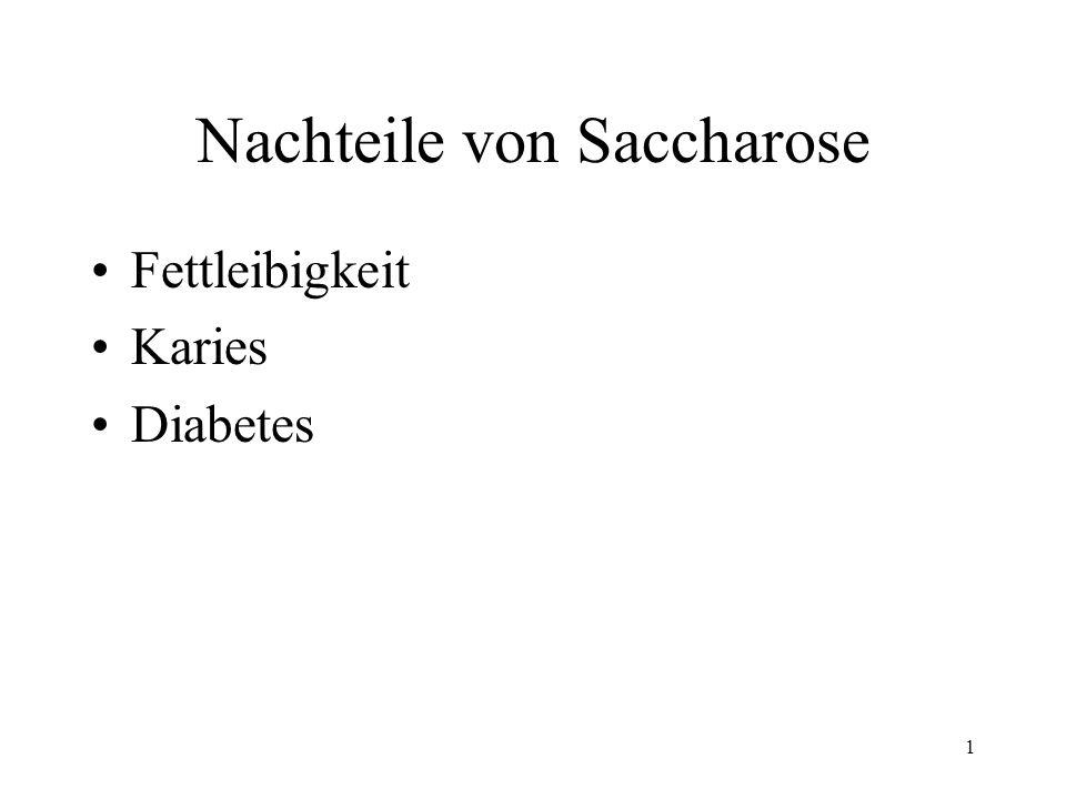 Nachteile von Saccharose