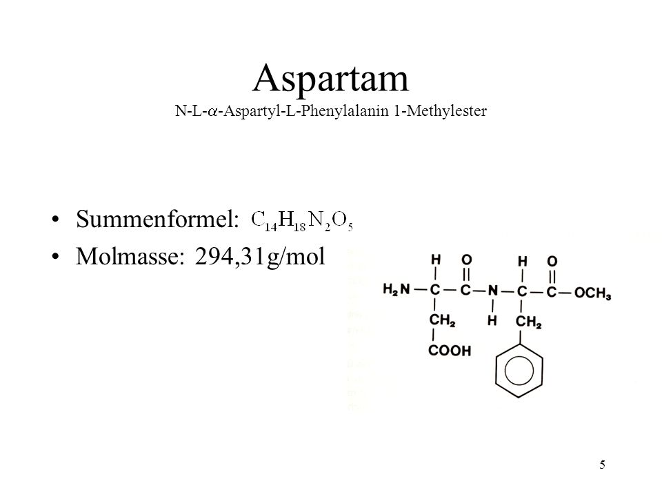Aspartam N-L--Aspartyl-L-Phenylalanin 1-Methylester
