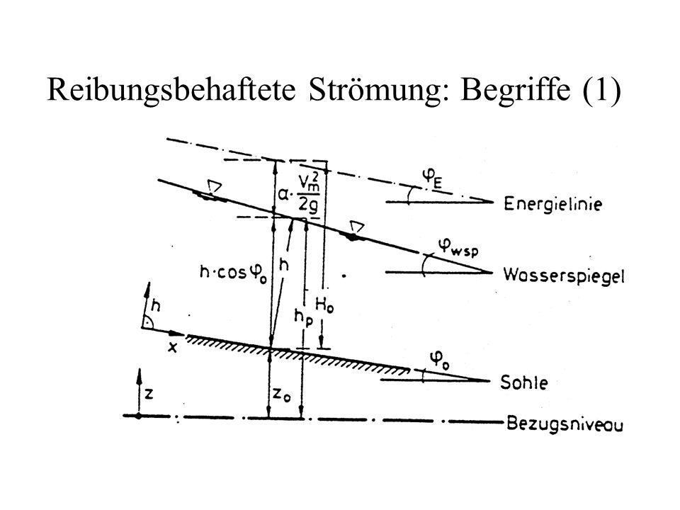 Reibungsbehaftete Strömung: Begriffe (1)